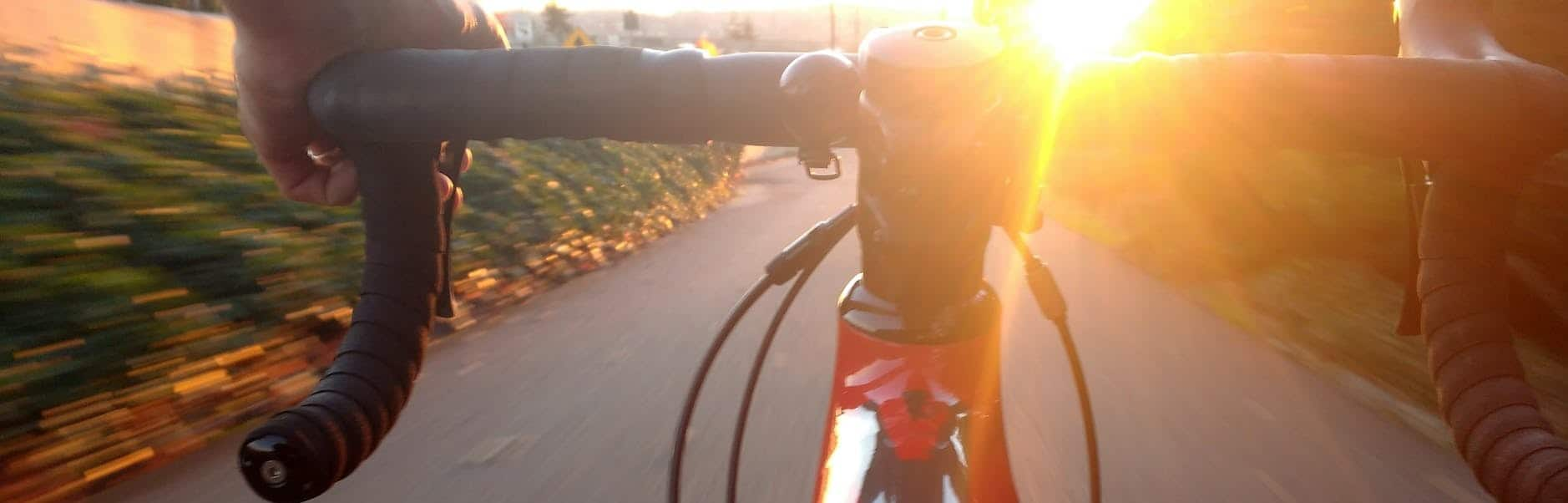 cyclist eye view from bike